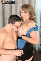 Catrina copulates her preeminent friend's son