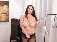 Ellis Finds A Undergarment That Fits Her Large Tits