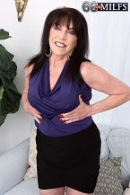 71-year-old Christina's first on-camera XXX